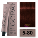 Schwarzkopf - Tinte Igora Royal Absolutes 5/80 Castaño Claro Rojo Natural 60 ml