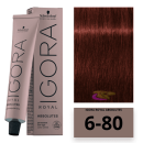 Schwarzkopf - Tinte Igora Royal Absolutes 6/80 Rubio Oscuro Rojo Natural 60 ml