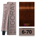 Schwarzkopf - Tinte Igora Royal Absolutes 6/70 Rubio Oscuro Cobrizo Natural 60 ml