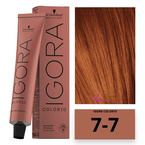 Schwarzkopf - Tinte COLOR Igora 10 Minutos 7-7 Rubio Medio Cobrizo 60 ml
