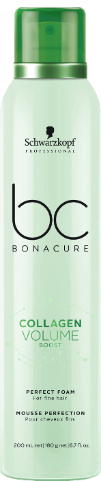 Schwarzkopf Bonacure - Espuma Perfecta COLLAGEN VOLUME BOOST cabellos finos 200 ml
