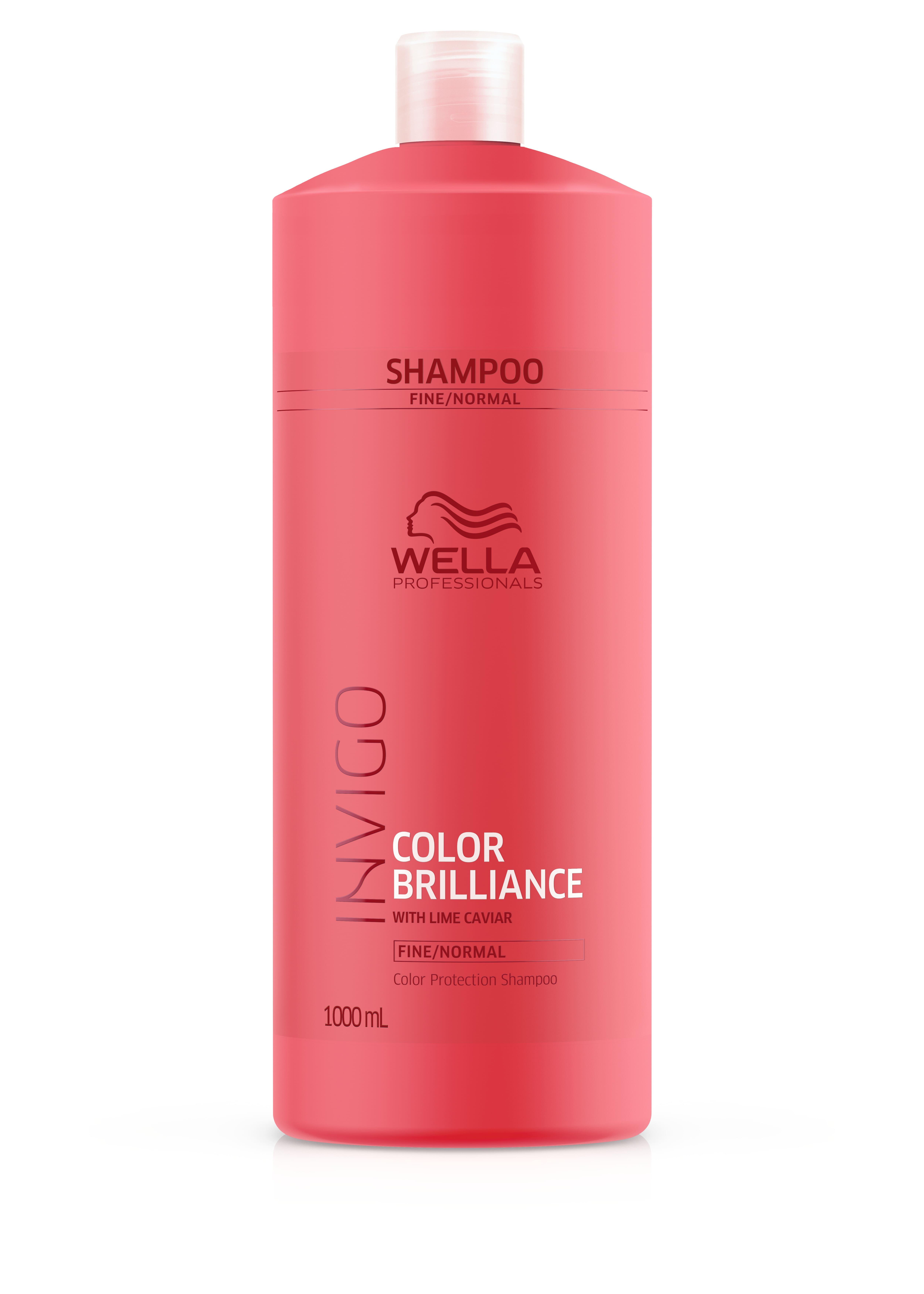 Wella Invigo - Champú COLOR BRILLIANCE cabello teñido fino normal 1000 ml 4c0c428cc8a4