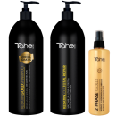 Tahe Botanic - PACK Keratin Gold Total Repair XXL (Champu 1000 ml + Mascarilla 1000 ml + Bifase 300 ml)